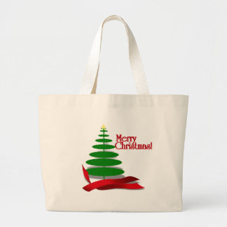 Christmas Tree with Red Ribbon Bags