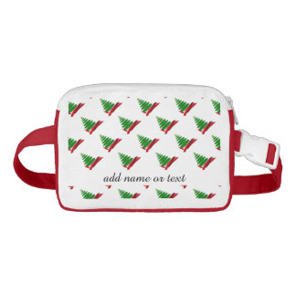 Christmas Tree with Red Ribbon Waist Bag