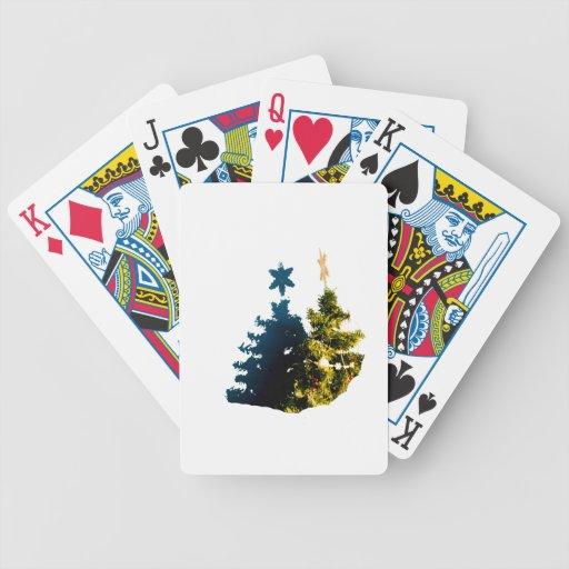 Christmas Tree with shadow cutout Card Decks