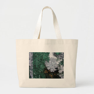 Christmas Tree with Silver Pine Cone Jumbo Tote Bag
