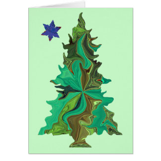 Christmas tree with star card