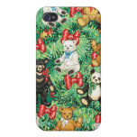 Christmas Tree with Teddy Bear Ornaments iPhone 4/4S Covers