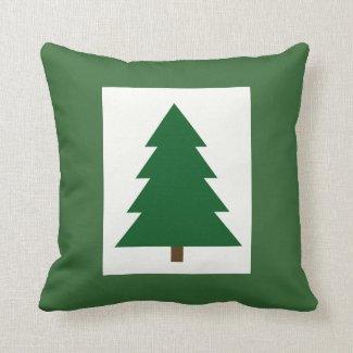 Christmas Tree Woodblock Pillows