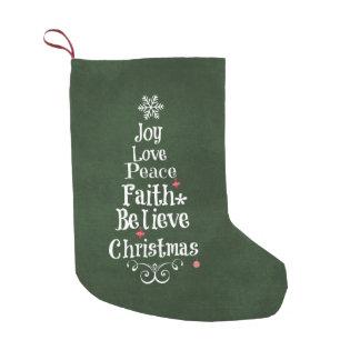 Christmas Tree Word Art Small Christmas Stocking