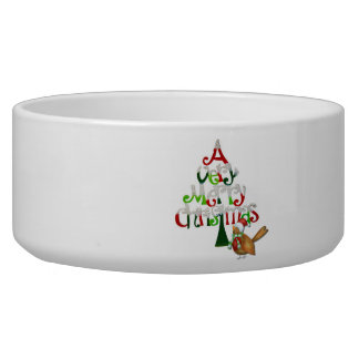 Christmas Tree Words Bowl