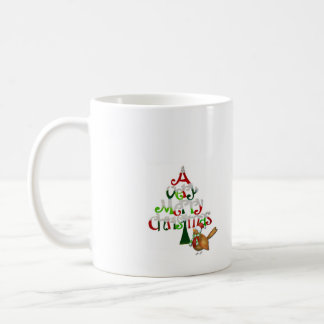 Christmas Tree Words Coffee Mug