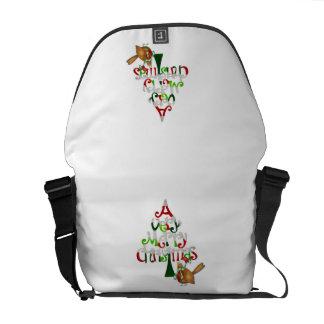 Christmas Tree Words Courier Bag
