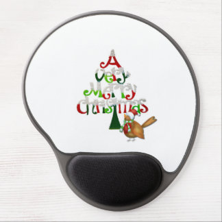 Christmas Tree Words Gel Mouse Pad