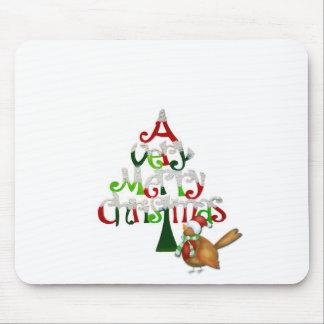 Christmas Tree Words Mouse Pad
