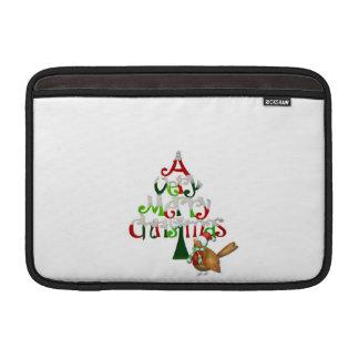 Christmas Tree Words Sleeve For MacBook Air