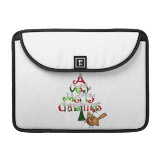 Christmas Tree Words Sleeve For MacBooks