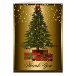 Christmas Tree Xmas Holiday Thank You Card