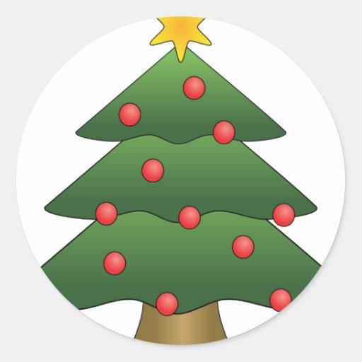 Christmas_Tree_XXL Pegatinas Redondas