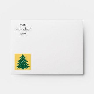 christmas tree,yellow envelopes