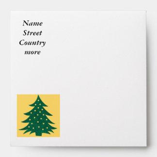 christmas tree,yellow envelope