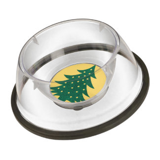 christmas tree,yellow pet bowl