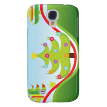 Christmas trees 3 casing samsung galaxy s4 case