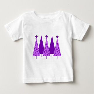 Christmas Trees - Alzheimers Purple Ribbon Baby T-Shirt