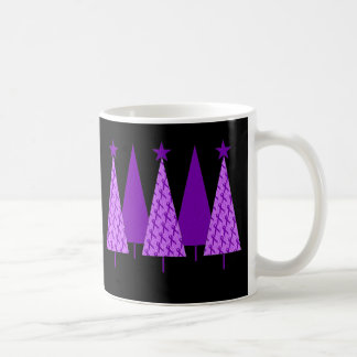Christmas Trees - Alzheimers Purple Ribbon Coffee Mug