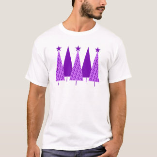 Christmas Trees - Alzheimers Purple Ribbon T-Shirt