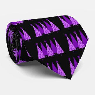 Christmas Trees - Alzheimers Purple Ribbon Tie