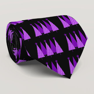 Christmas Trees - Alzheimers Purple Ribbon Tie