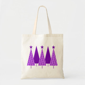 Christmas Trees - Alzheimers Purple Ribbon Tote Bag