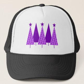 Christmas Trees - Alzheimers Purple Ribbon Trucker Hat