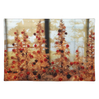 Christmas Trees American MoJo Placemat Cloth Placemat