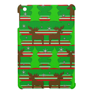 Christmas trees and reindeer pattern cover for the iPad mini