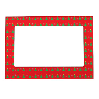 Christmas Trees and Snowflakes Magnetic Frame