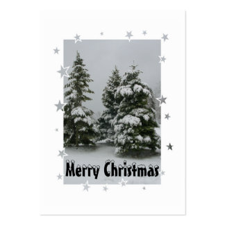 Christmas Trees and Stars Gift tag Large Business Card