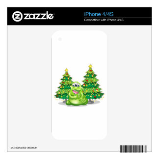 Christmas trees at the back of the monster with a decals for the iPhone 4S