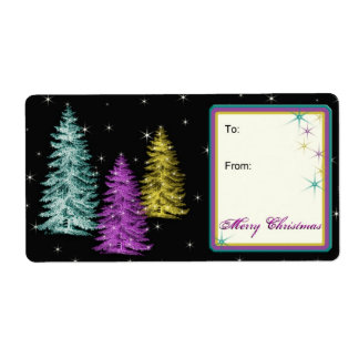 Christmas Trees Avery Label Gift Tags