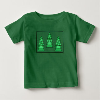 #christmas trees baby t-shirt by DAL