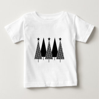 Christmas Trees - Black Ribbon Baby T-Shirt