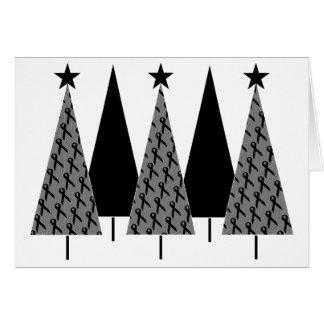 Christmas Trees - Black Ribbon Card
