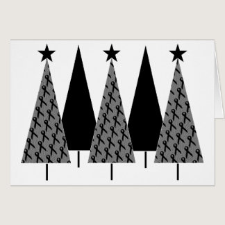 Christmas Trees - Black Ribbon Card