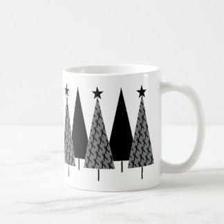 Christmas Trees - Black Ribbon Coffee Mug