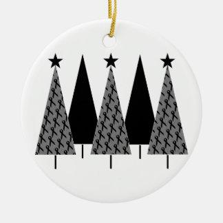 Christmas Trees - Black Ribbon Christmas Ornaments