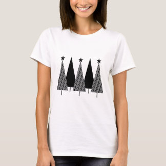 Christmas Trees - Black Ribbon T-Shirt