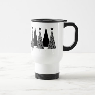 Christmas Trees - Black Ribbon Travel Mug