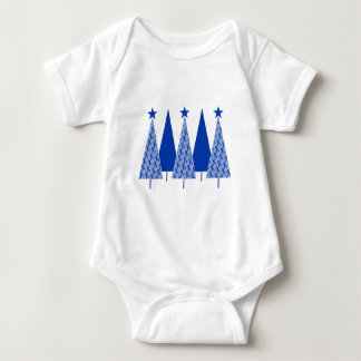 Christmas Trees - Blue Ribbon Colon Cancer Baby Bodysuit