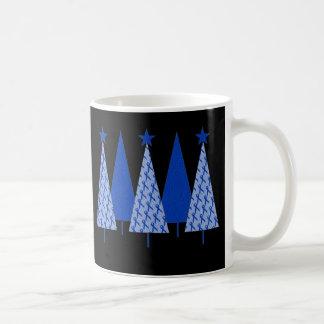 Christmas Trees - Blue Ribbon Colon Cancer Coffee Mug