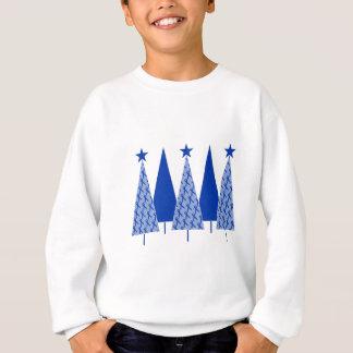 Christmas Trees - Blue Ribbon Colon Cancer Sweatshirt