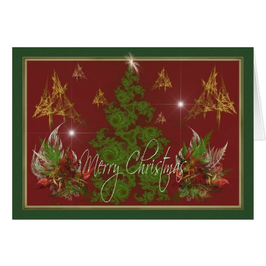 Christmas Trees & Bouquets Card