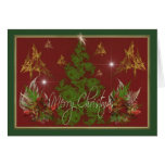 Christmas Trees & Bouquets Greeting Cards