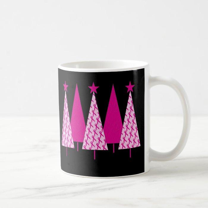 Christmas Trees - Breast Cancer Pink Ribbon Coffee Mug