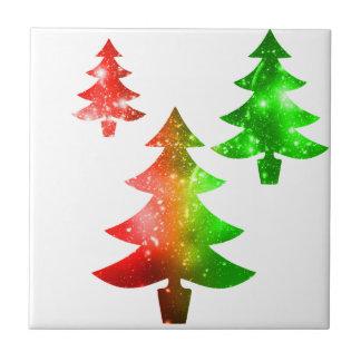 Christmas Trees Ceramic Tile