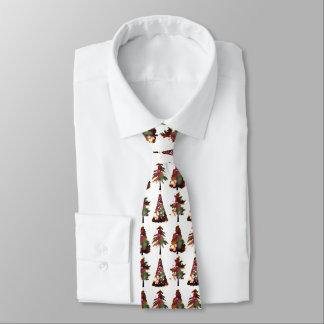 Christmas trees design elegant holiday neck tie